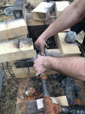 Adjusting the tuyere